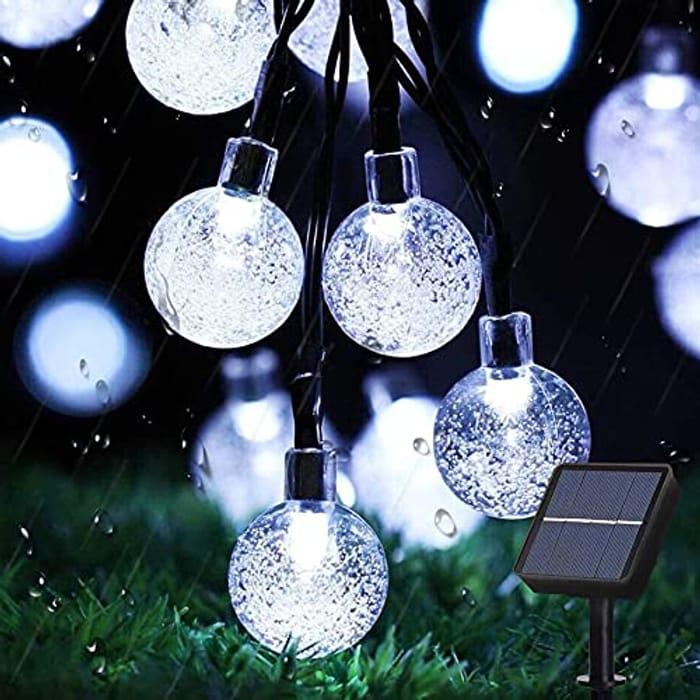 DEAL STACK - Augone 50LED Waterproof Garden Solar String Lights + 5% Coupon