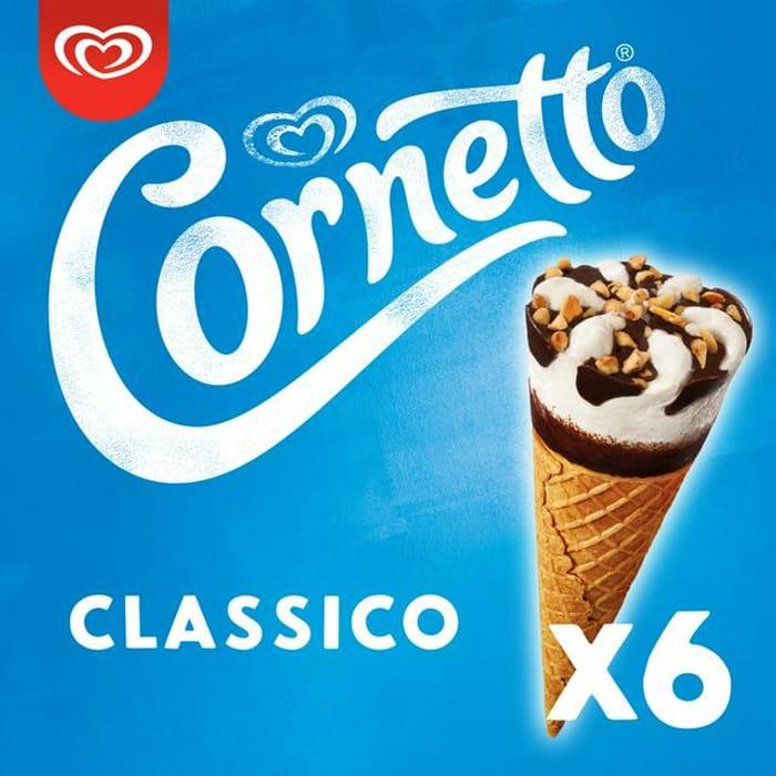 Cornetto 6 Classico Ice Cream Cones