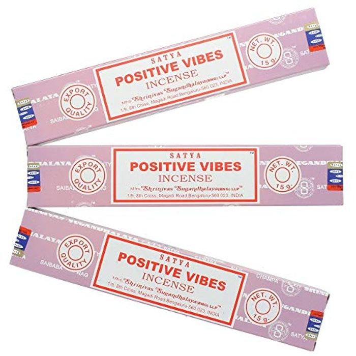 Satya Nag Champa Positive Vibes Incense Sticks - 3 Packs