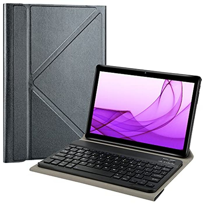 CHEAP! KUNWFNIX Bluetooth Keyboard All 9-10.1 Inch Tablet with £15 off Coupon
