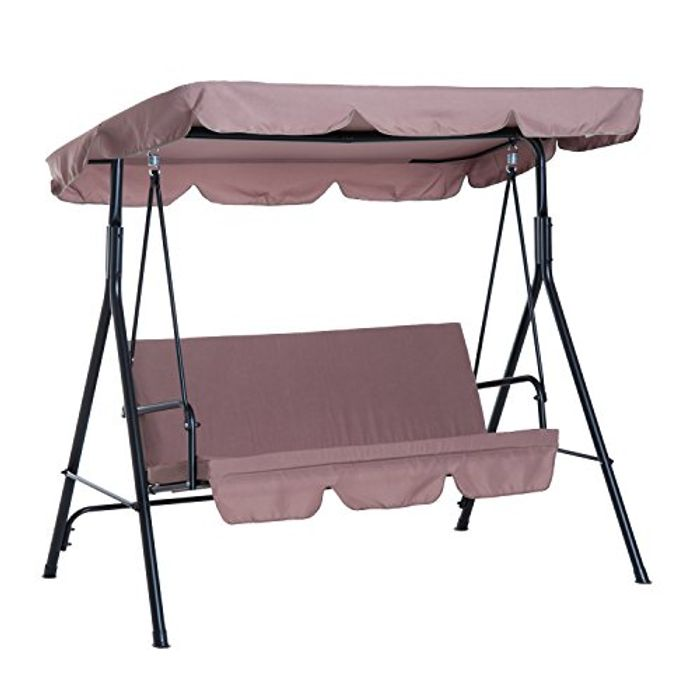 Outsunny 3 Seater Heavy Duty Canopy Swing Garden Chair - Only £72.24!