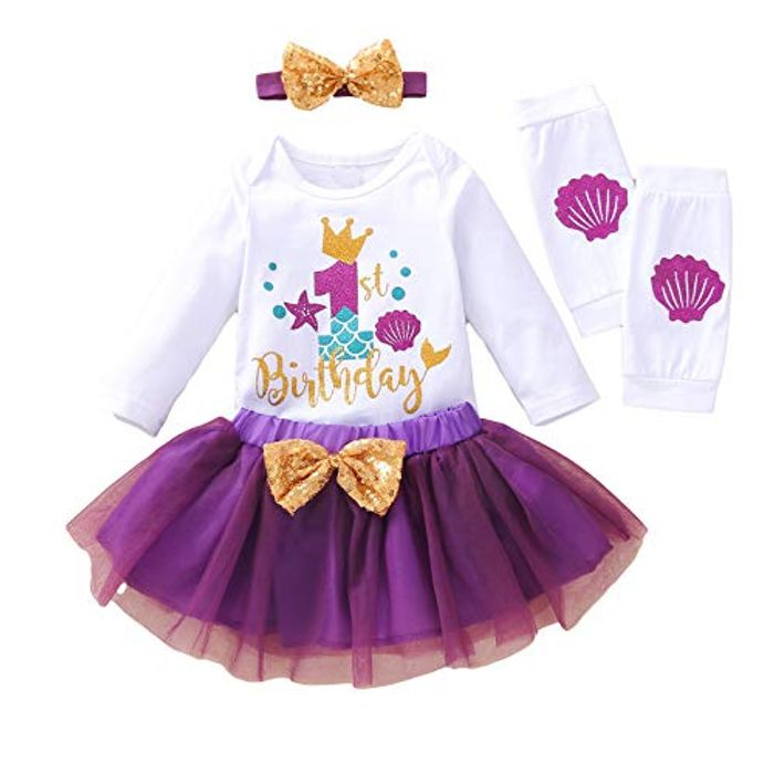 Haokaini Baby Girl 1st 1/2 Birthday Outfits - Only £3.35!