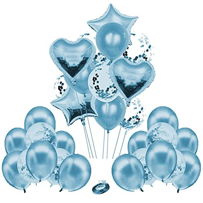 30PCS Heart & Star Party Decoration Balloons for Birthday - Only £3.60!