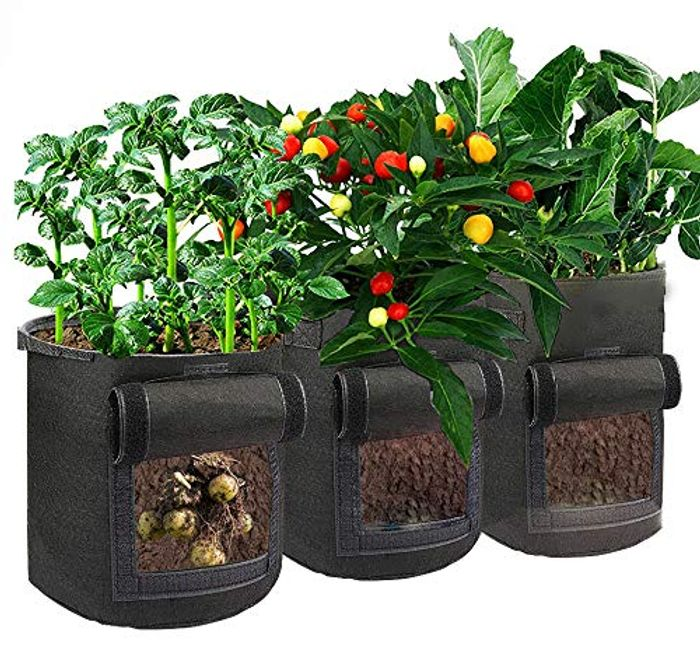 3 Pack 10 Gallon Grow Bags