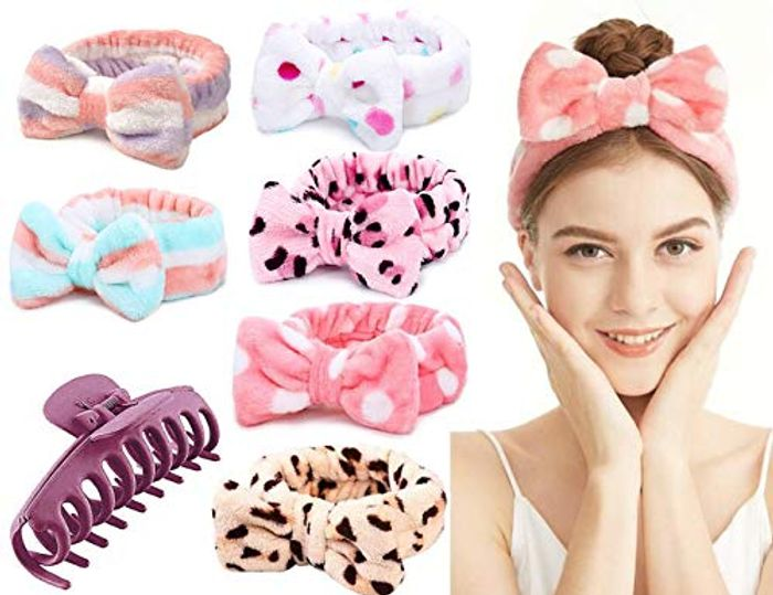 ,YMCCOOL Soft Coral Fleece Facial Makeup Hair Wrap, 6 Pack - Only £4.49!