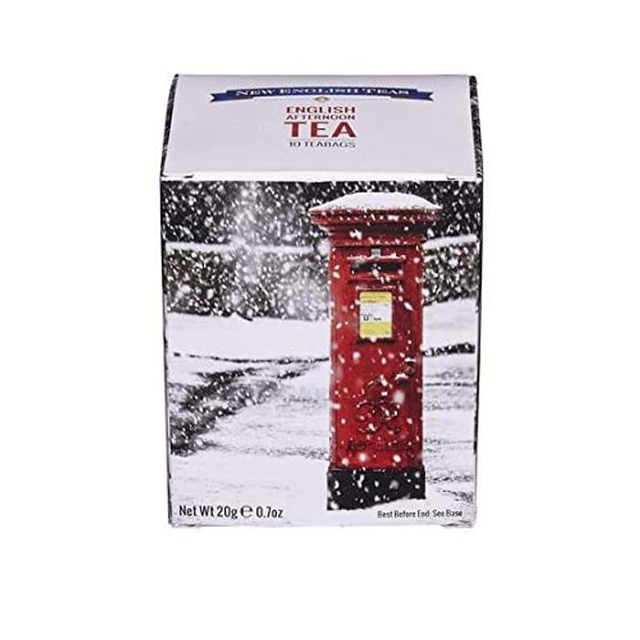 English Teas Post Box Snow Scene Tea Carton
