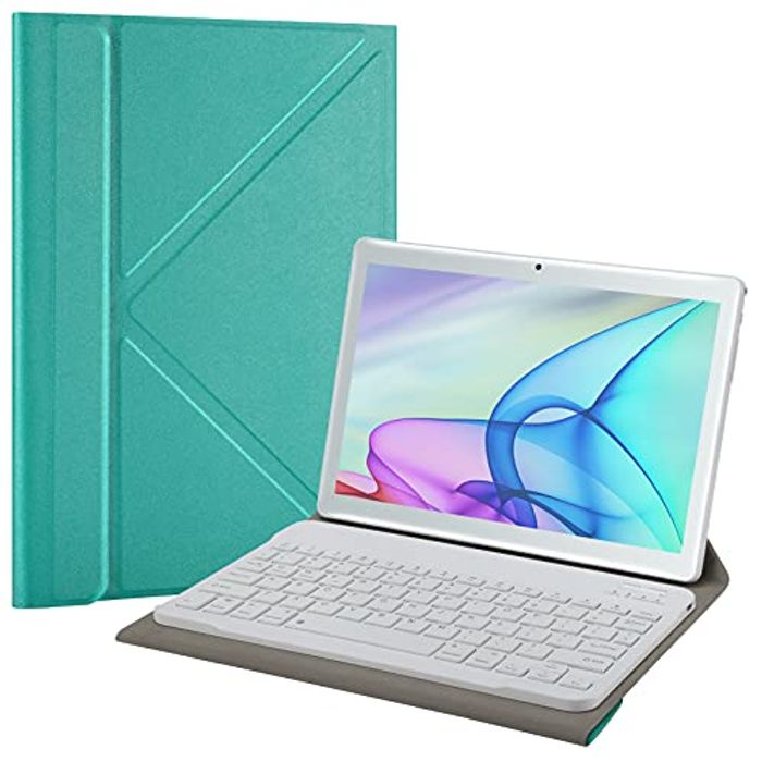KUNWFNIX Bluetooth Keyboard for All 9-10.1 Inch Tablet with £15 off Coupon