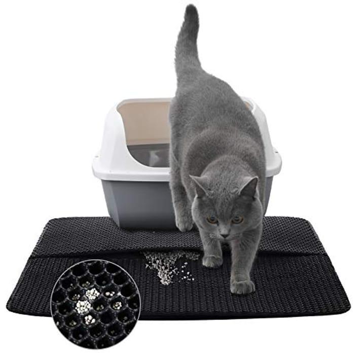 ANWA Cat Litter Mat Litter Trapping Mat Double Layer - Only £2.59!