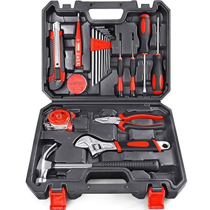 Arrinew General Household Hand Tools Kit 19 PCS - Only £16.49!