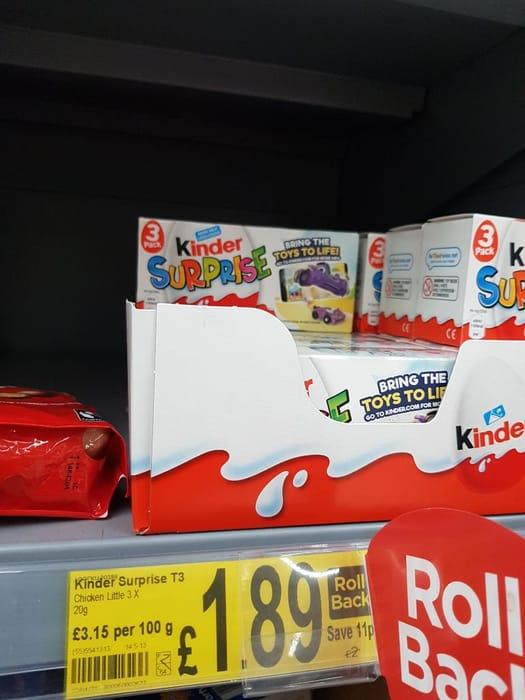 Kinder Surprise Chocolate Egg Multipack 3 Pack  3x20g