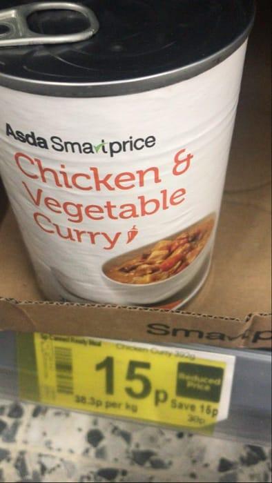 Asda Smart Price Chicken + Vegetable Curry