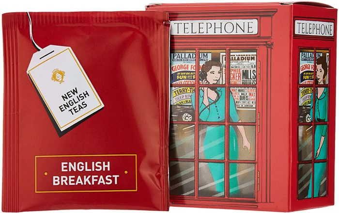 English Telephone Box English Breakfast Tea 6 Teabag Carton