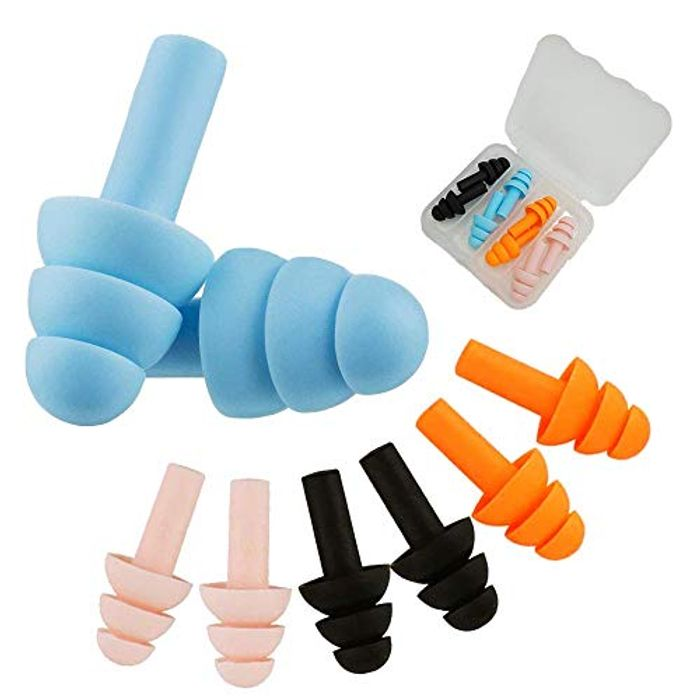 4Pairs Soft Foam Ear Plugs for Sleeping Noise Cancelling