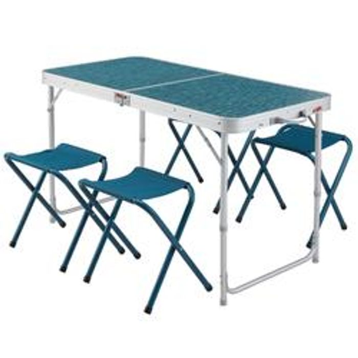 Folding Camping Table - 4 Stools - Only £39.99!