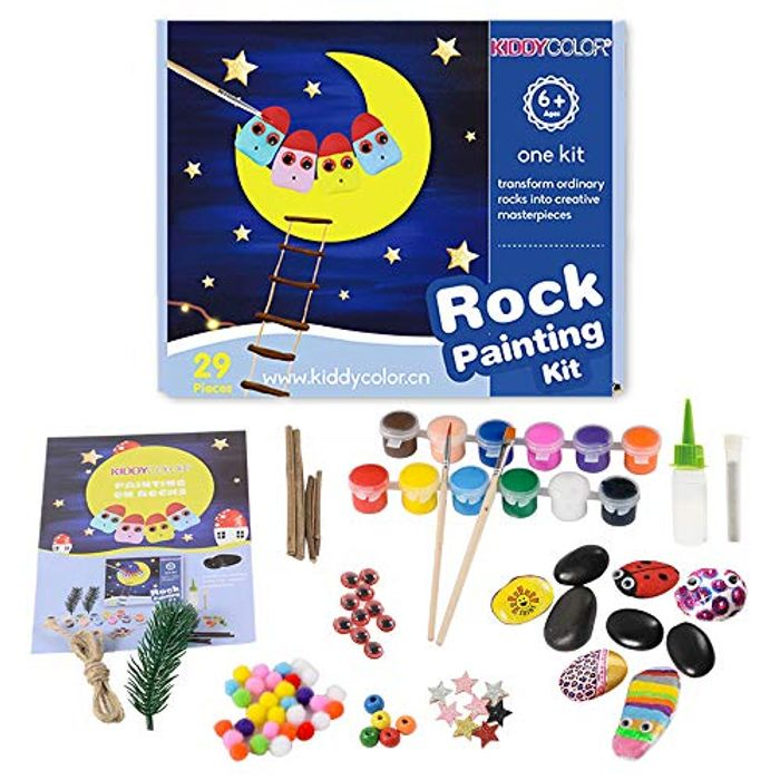 Rock Painting Craft Kits Art Set for Kids for - £6.49