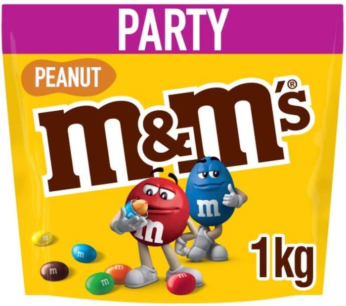 M&M's Peanut Chocolate Party Bulk Bag, - 1 Kg
