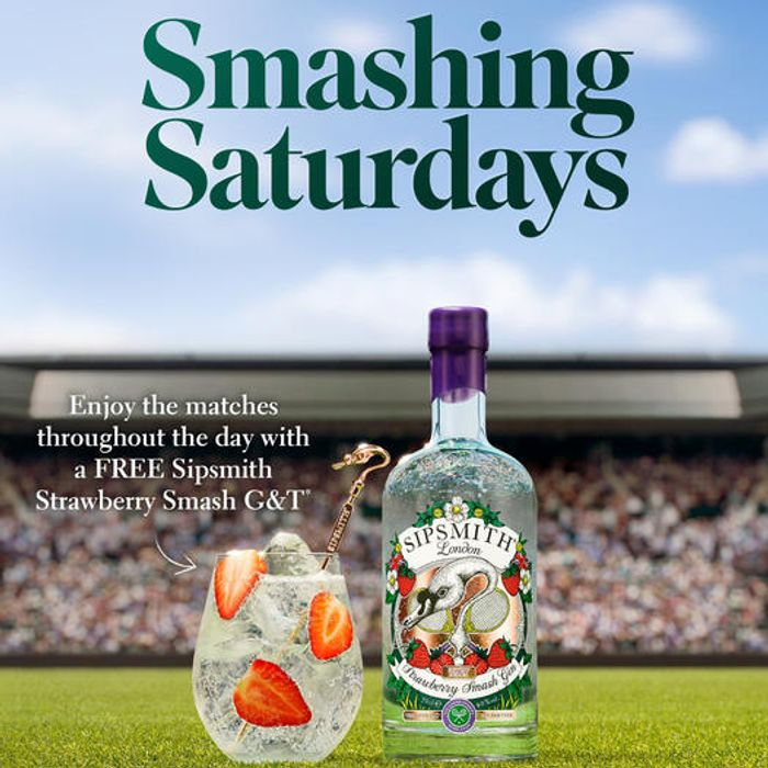 FREE Sipsmith Strawberry Smash G&T at Fullers Pubs