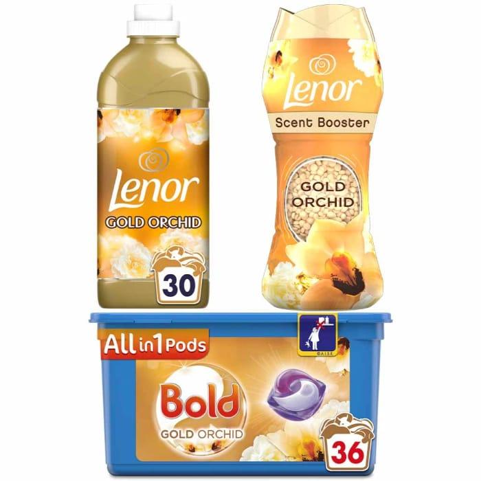 Lenor Bold Gold Orchid Laundry Bundle