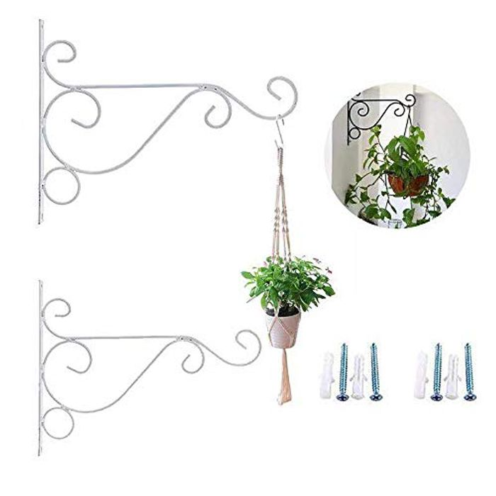 "Bestenrose 2 Pack 10"" Iron Hanging Plants Brackets"