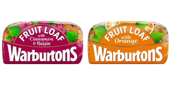 Warburtons Fruit Loaf with Cinnamon and Raisin/Warburtons Fruit Loaf with Orange