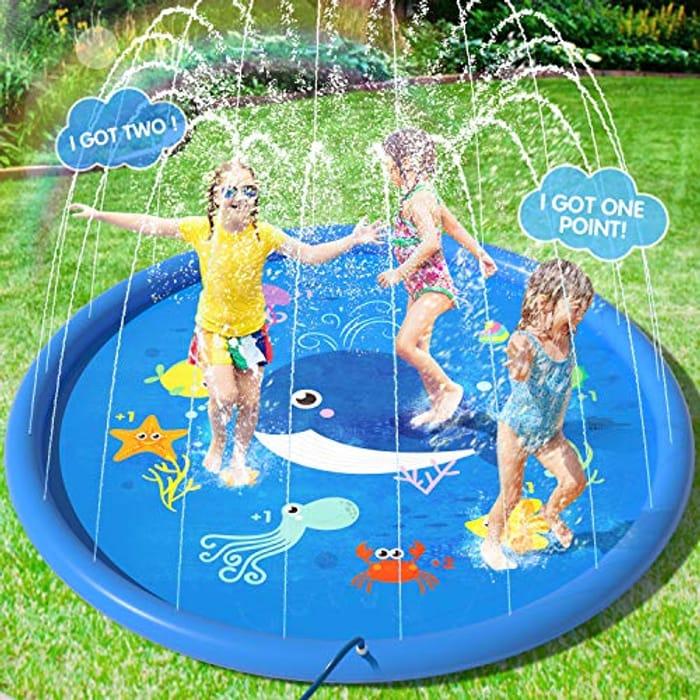 Peradix Water Splash Sprinkler Pad for Kids - Only £5.99!