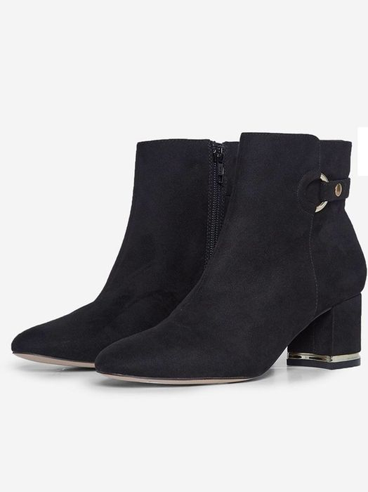 Cheap Black Block Heel Aria Boots - Only £10!