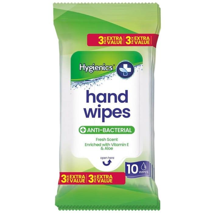 Anti Bacterial Hand Wipes 3 X 10pk