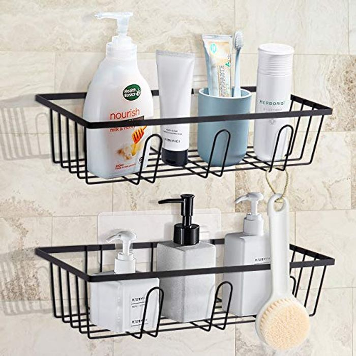 GuKKK Adhesive Shower No Drilling Shelves, 2 Packs - Only £6.06!