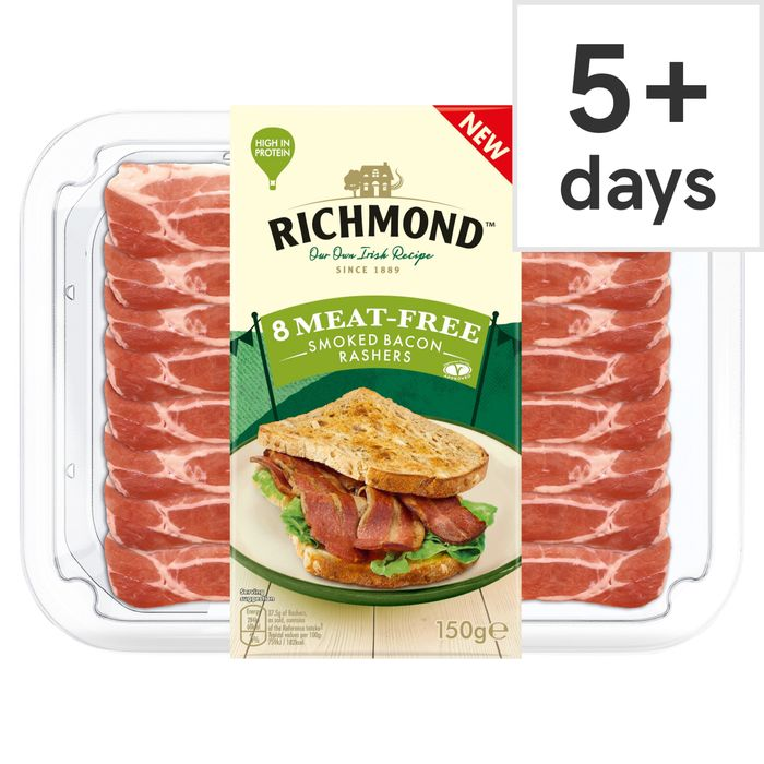 Richmond Meat Free 8 Smoked Rashers - Clubcard Price - Only £1.50!