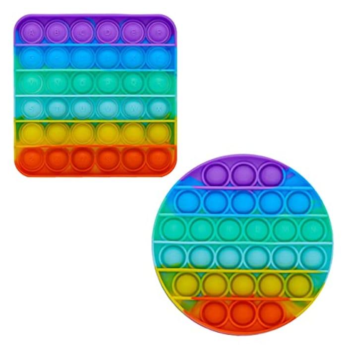 BLISSCO Multicolored Push Pop It Sensory Fidget Toys, Pack of 2 - Only £2.49!
