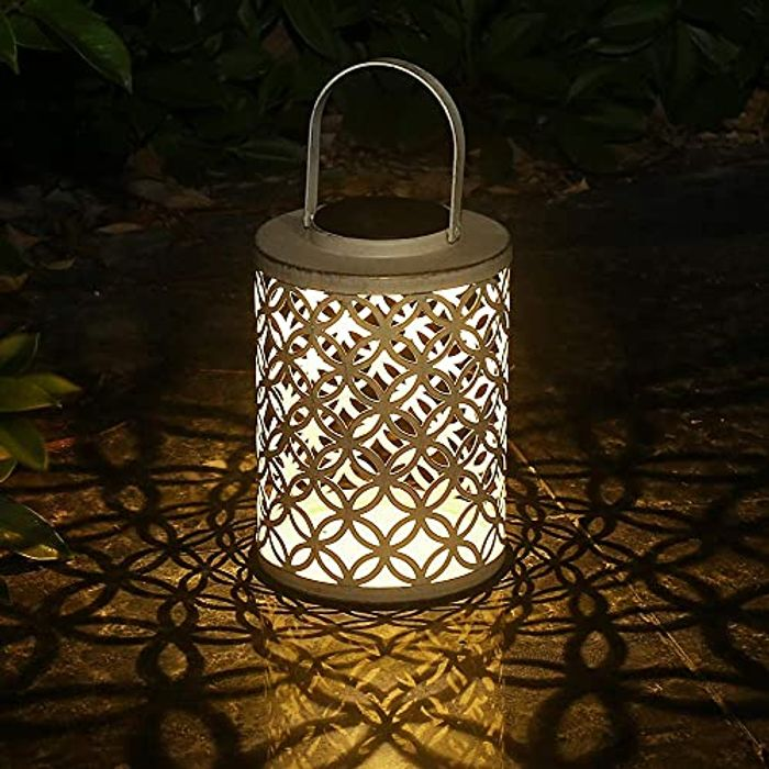 DEAL STACK - Esgarden Waterproof Solar Garden Decorative Lantern + 15% Coupon