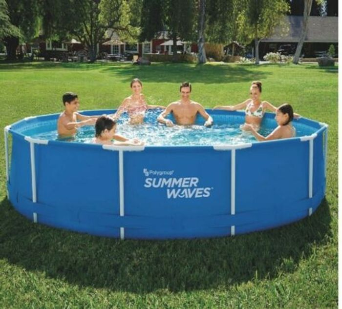 12ft Metal Frame Pool with Pump ,Filter & Cover