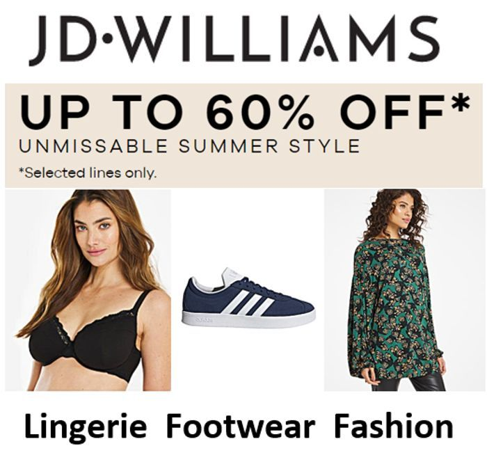 Special Offer! JD Williams - SUMMER STYLE SALE - up to 60% Off