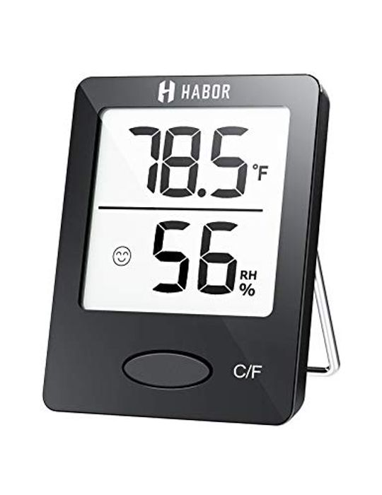Habor Room Thermometer with Clear LCD Display for Home Office