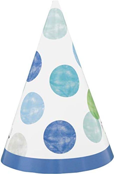 8pcs Kids Polka Dot Party Hats (Minimum Order 4)