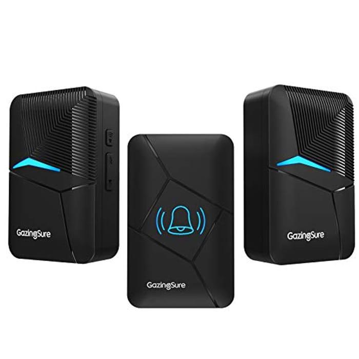 DEAL STACK - GazingSure Wireless Doorbell with 2 Receivers + £2 Coupon