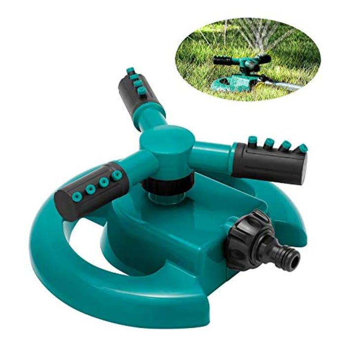 ENJSD 360 Degree Rotating 3 Arm Water Sprinkler