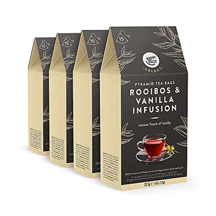 Herbal Tea Teabags Vanilla 4 packs x15 Pyramides