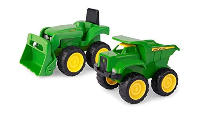 John Deere Dump Toy Tractor with Loader Construction Vehicle Set - Only £4.35!