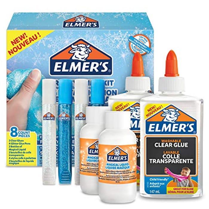 Elmers Glue Frosty Slime Kit, Clear School Glue - Only £5.44!
