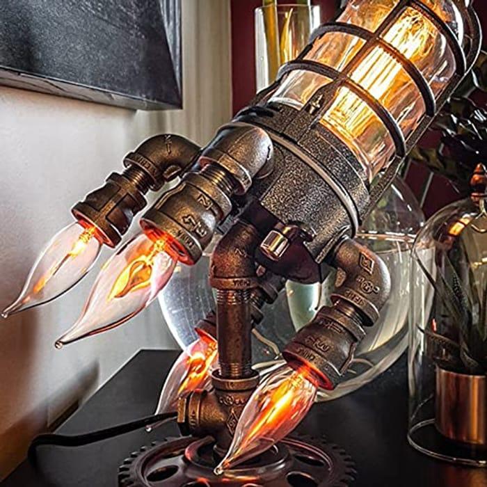 DFDF Steampunk Rocket Lamp Punk Style Lights - Only £19.99!