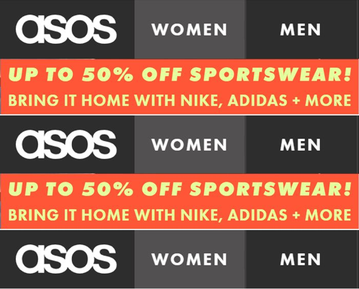 Special Offer! ASOS SPORTSWEAR SALE - up to 50% off NIKE, Adidas & More