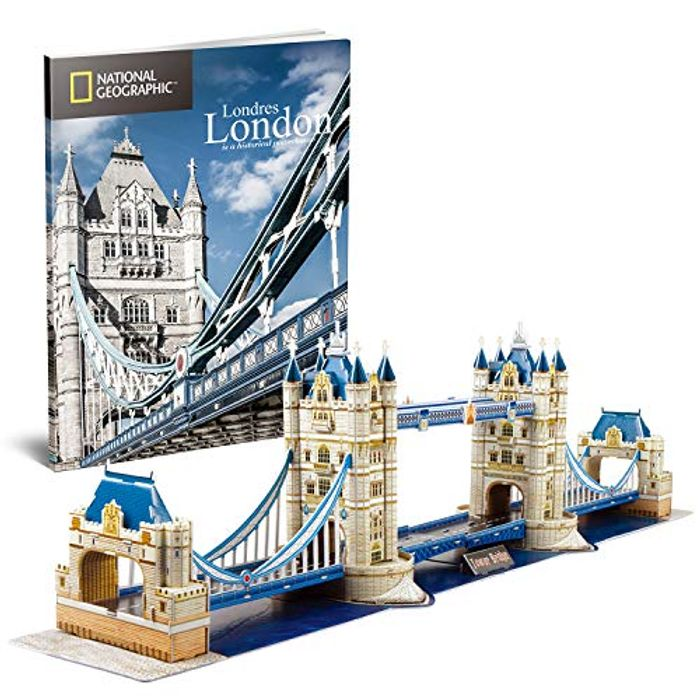CubicFun 3D Puzzles for Kids Adults National Geographic Large Tower Bridge