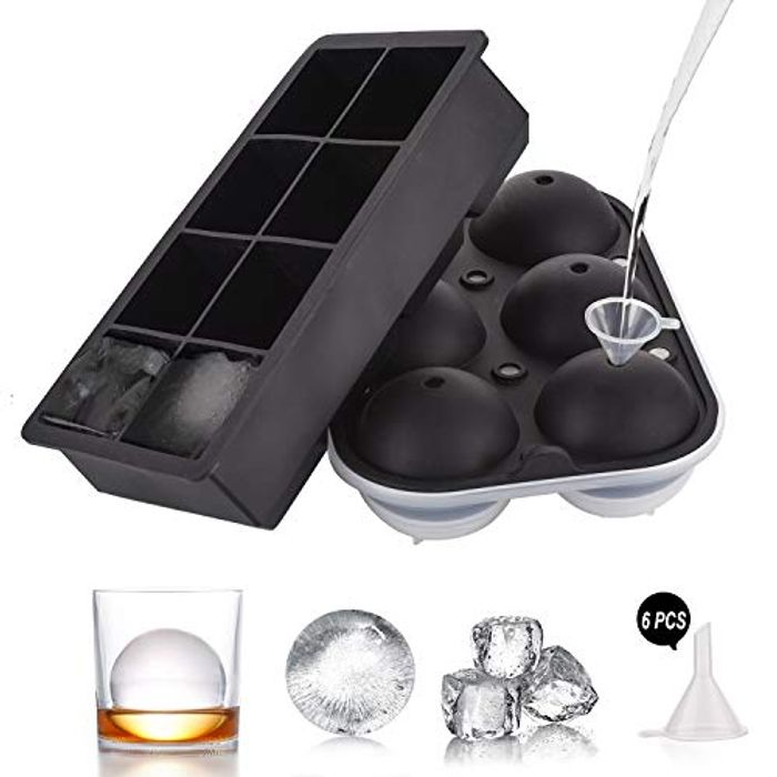 """Large Silicone 2"""" Ice Cube Mold - 2 Pack"""