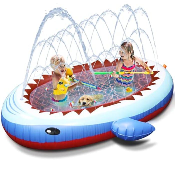 Tobeape Sprinkler Pad & Paddling Pools for Kids - Only £18.31!