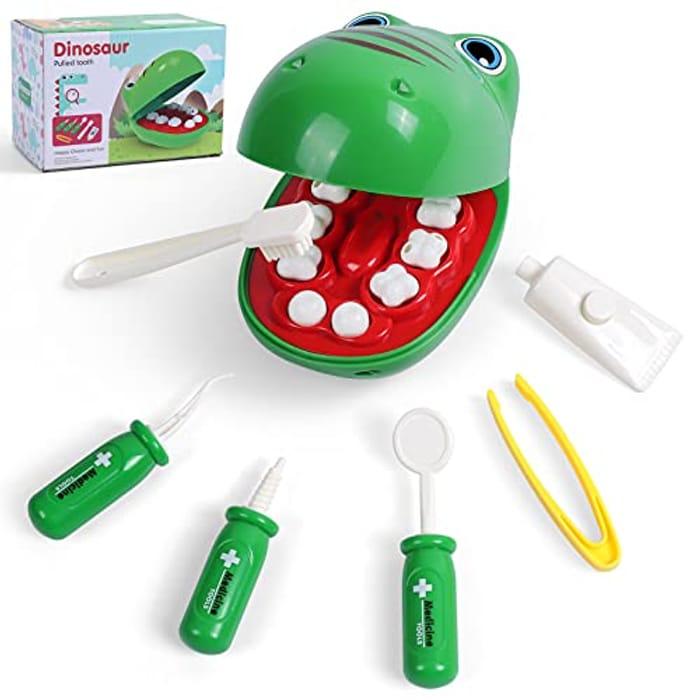 BroKids Dentist Toy Kit for Kid, 7 Pcs - Only £7.94!