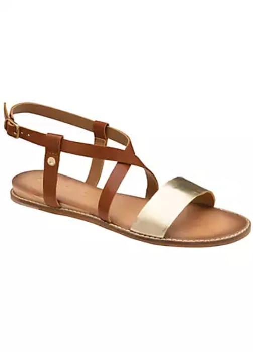 Aspen Contrast Strap Flat Sandals by Ravel