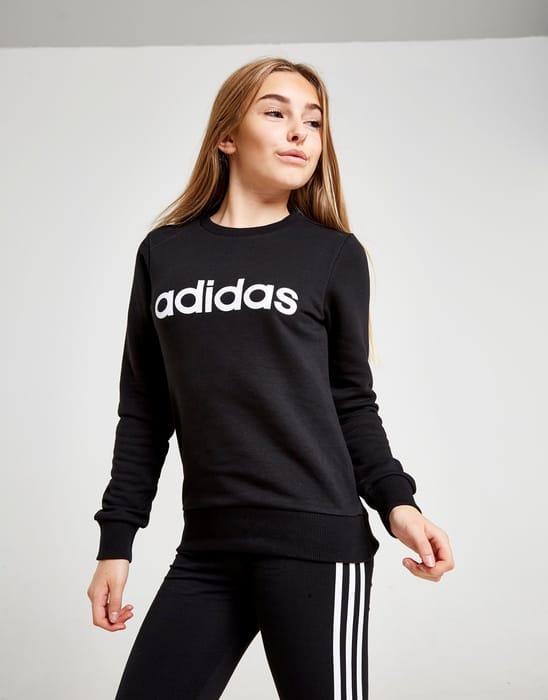 Adidas Girls' Linear Cew Sweatshirt Junior