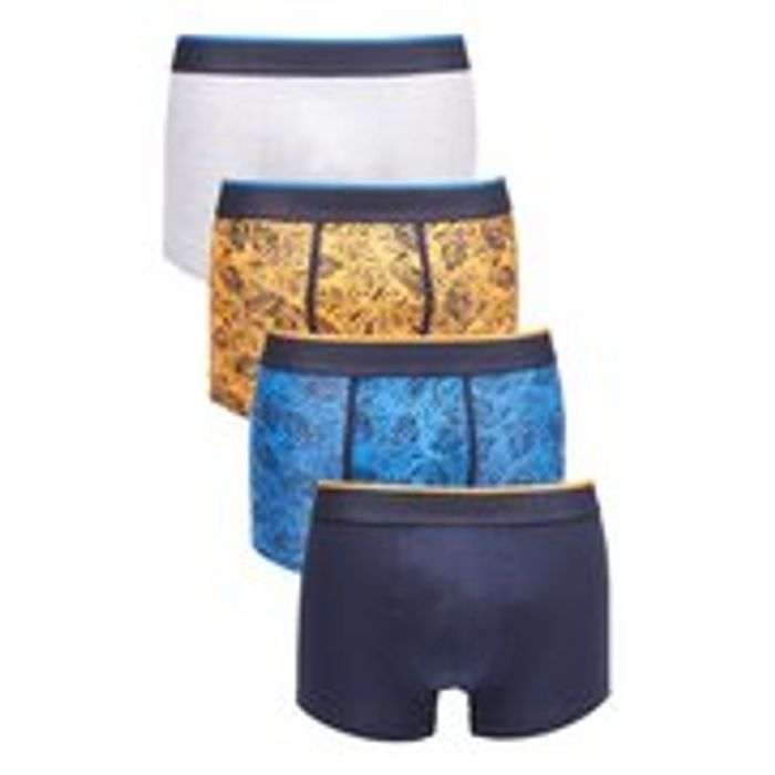 Pack of 4 Floral Hipster Trunks