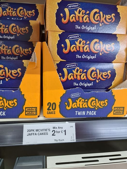 Jaffa Cakes 2 Packs for £1